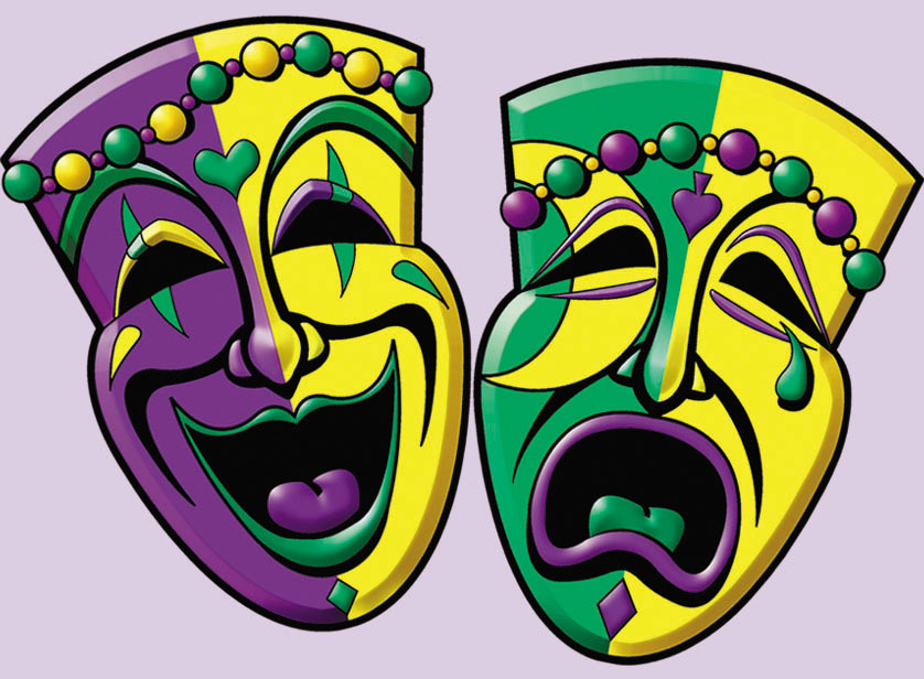 Drama Mask Cake Decorations