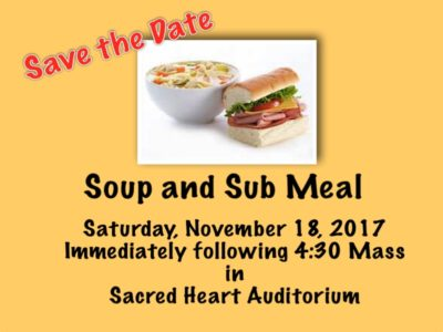 Soup and Sub Supper