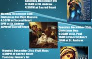 Holy Day Mass Schedule