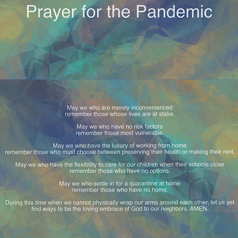 Prayer for the Pandemic